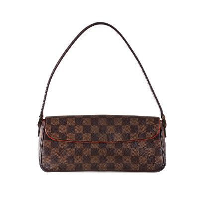 shoulder carry clutch mini bag brown